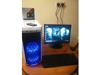 12 Months Warranty Office, WiFi Complete Gaming PC Computer System