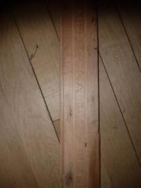 Maple strip flooring