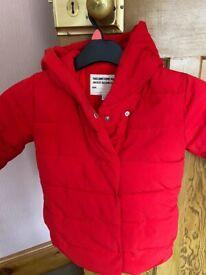 GIRL'S RED M&S COAT