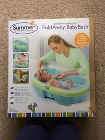 Foldaway baby bath