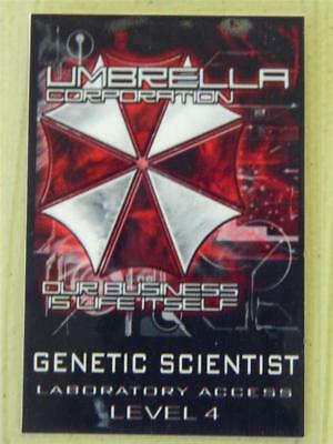 HALLOWEEN COSTUME PROP - ID/Security Badge (Umbrella Corporation) Genetic Scient (Umbrella Corporation Halloween Costumes)