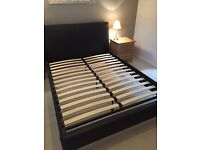 King size luxury leather bed frame