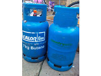 2 x 7kg Gas Bottles Calor type Butane with gas in