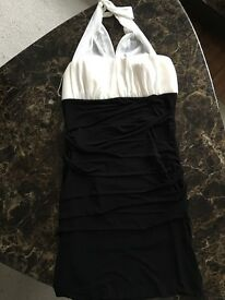 Black and white halter neck dress. Size 10