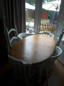 Dining table and6 chairs