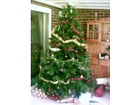 """7'6"""" Artificial Spruce Christmas Tree"""