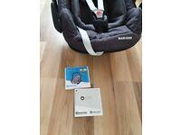 Maxi cosi pebble car seat. Birth -12m