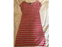 Size 8 - Top Shop gold and pink knitted mini party dress