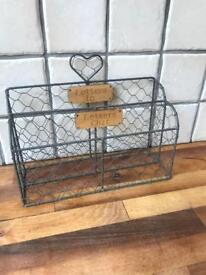 Lovely Rustic Metal Letter Rack