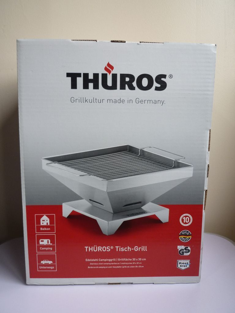 thüros tabletop charcoal bbq/grill - new | in bromley, london | gumtree