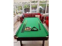 6ft Snooker Table - foldable with accessories.