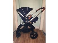 iCandy Peach Pushchair with Chrome Chassis & Royal Hood