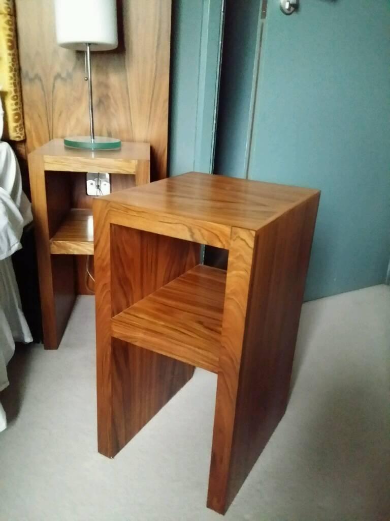 Solid hard wood bedside units