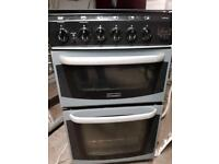 Cannon 50cm double oven and 4 burner gas hob