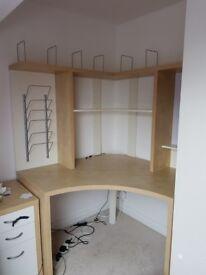 Ikea Mikael Corner Desk & Drawers in Good Condition