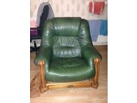 dark green leather Sofa for sale