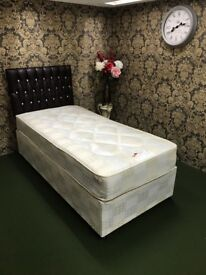 Brand New 3FT Single Windsor Quilted Bed Set - Fast Delivery