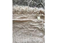 Bnwt Laura Ashley sparkly throw/bedspread