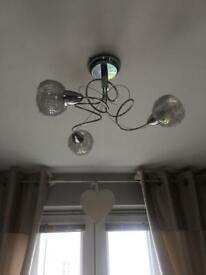 Next Crystal Like Spiral Ceiling Lights Immaculate Condition