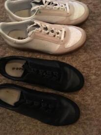 2 x men's diadora trainers