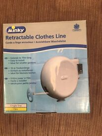 Retractable Clothes Line BRAND NEW NEVER USED RRP £15