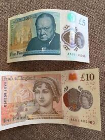 Sought after AA01 serial number notes