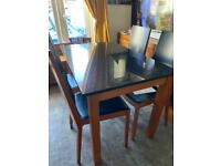 Calligaris Granite & leather Dining table and Chairs