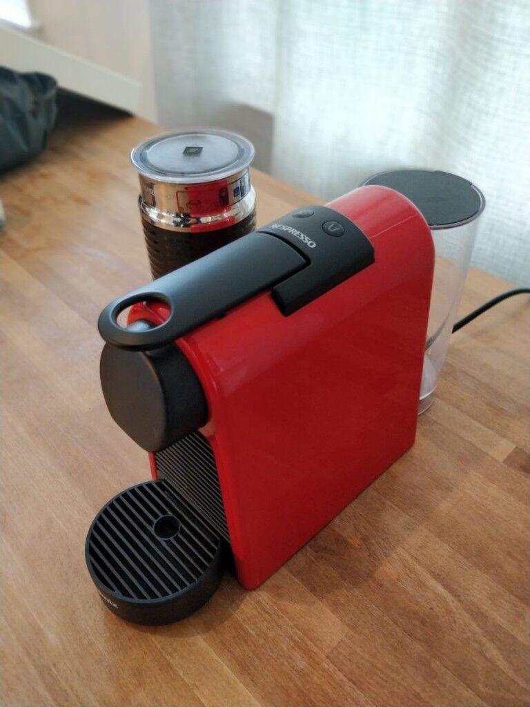 Nespresso Essenza Mini Coffee Machine With Aeroccino Ruby Red By Magimix In London Gumtree