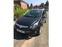 Vauxhall Corsa Black AC Aux Low Millage CD player Electric Mirror Service History First Car Low Tax