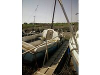Project Yacht 19ft Bilge Keel only £200 ono WITH FREE MOORING in WESTEN SUPER MARE