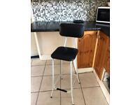 Metal kitchen chair stool
