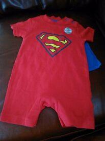 Superman babysuit 0-3 months new no tags