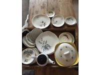 Box of vintage china. Over 50 pieces.