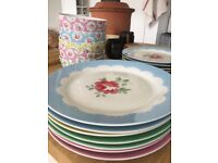 Cath Kidston 20pc floral table set (7 x dinner plates, 8 x side plates, 5 x cereal bowls)