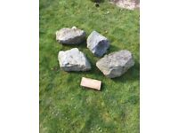 4 large sandstone rocks rockery