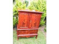 CAN DELIVER - BEAUTIFUL HIGHLY POLISHED ITALIAN CUPBOARD - CABINET - VERY RARE