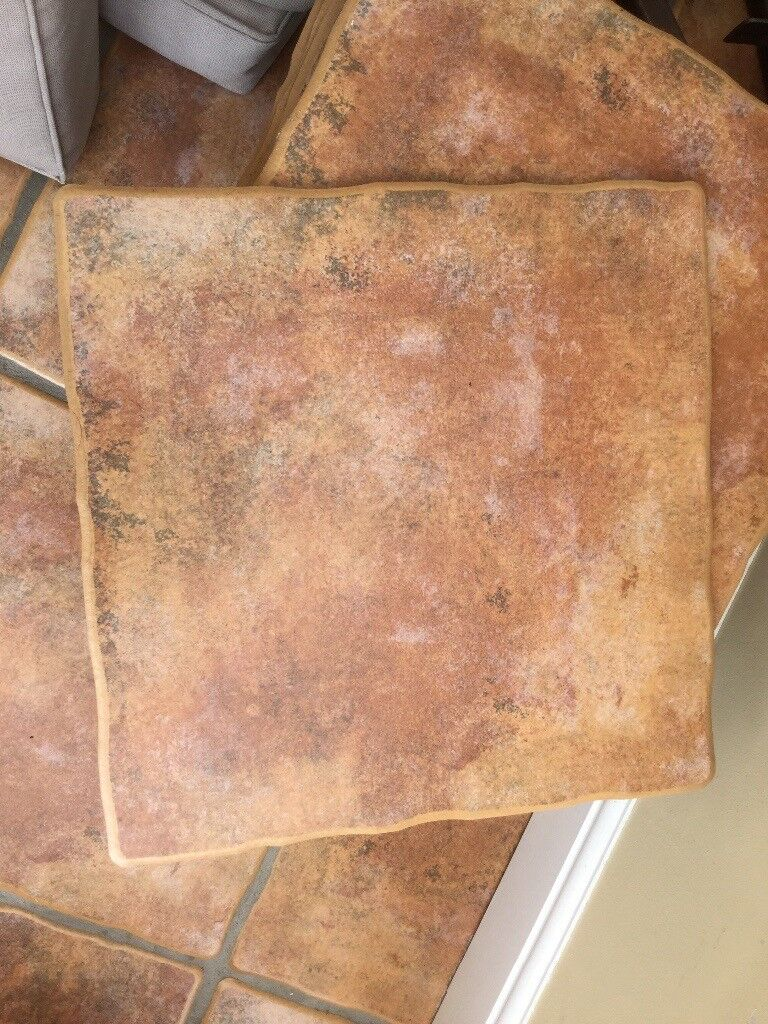 25 Terracotta In Colour Floor Tiles Ideal For Kitchen Or