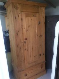 Single corndell pine wardrobe - want to sell ASAP.
