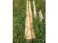 14 lengths treated sawn timber 3600x150x19mm