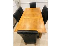 Extending Dinning Table Set + 6 Chairs
