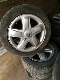 RENAULT CLIO X4 ALLOY WHEELS AND TYRES 15""