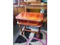 Veneer Side Table with Single Drawer