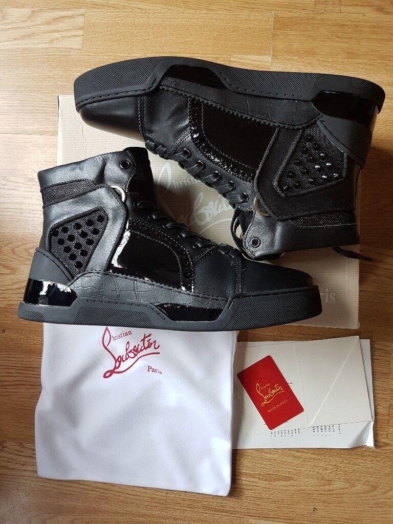 innovative design fd5b3 f5e7e Christian Louboutin- Men's Loubikick Sneakers (Black Leather)   in  Westminster, London   Gumtree