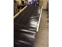 Black Mineral Felt Torch on SBS Roofing IKO Cap Sheet 8 m x 1m 4kg (Slight seconds - Missing stones)