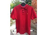 2 Medium sized Ralph Lauren polo shirts in excellent condition