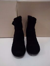 Ladies suede hush puppies ankle boots
