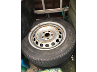 2 x Vw Van Tyres with rims, size 195/65/15
