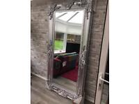 Stunning massive chrome Ornate Mirror, new