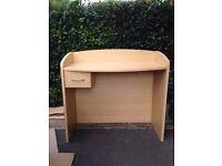 dressing table/desk wood effect