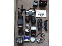 Pentax ME Super SLR 35mm film camera and loads extra